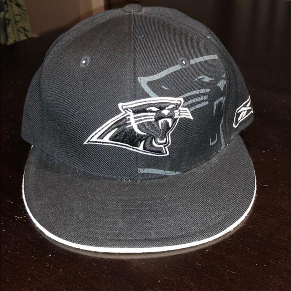 c0e5021a Reebok Carolina Panthers Fitted Hat Size 7 1/8